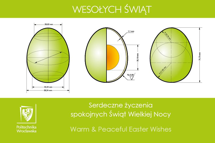 Dodatkowe Kartka świąteczna - Wielkanoc 2019 - Politechnika Wrocławska LW64